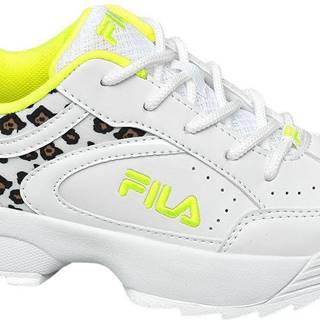 Fila - Biele tenisky so zvieracím vzorom Fila