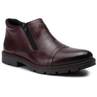 Členkové topánky Rieker 12194-25 Prírodná koža(useň) - Lícova