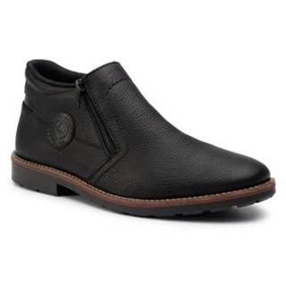 Členkové topánky Rieker 15399-00 Prírodná koža(useň) - Lícova
