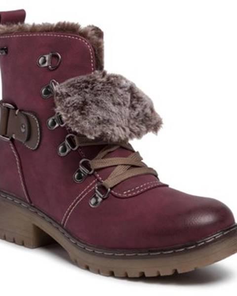 Bordové topánky Clara Barson
