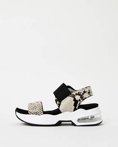 Krémové dámske sandále s hadím vzorom Xti