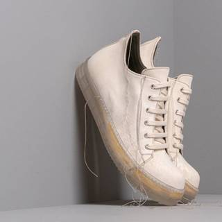 Rick Owens No Cap Low Sneakers Milk