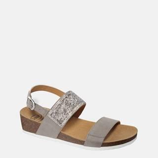 Šedé dámske sandále v semišovej úprave Scholl Cecilia