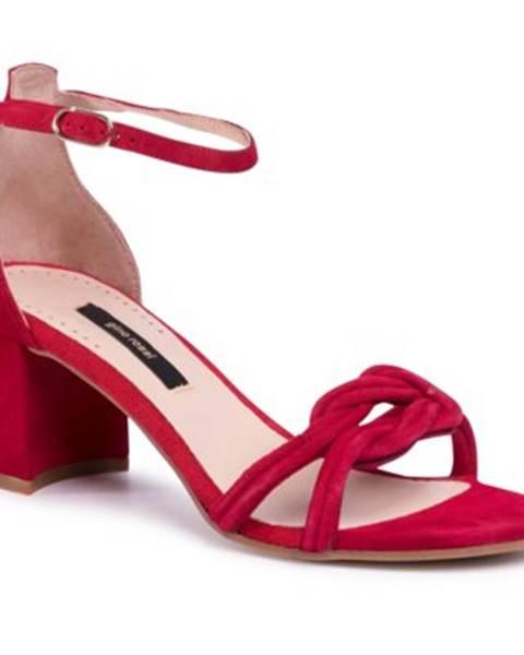 Červené sandále Gino Rossi
