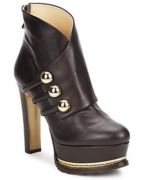 Hnedé topánky Moschino
