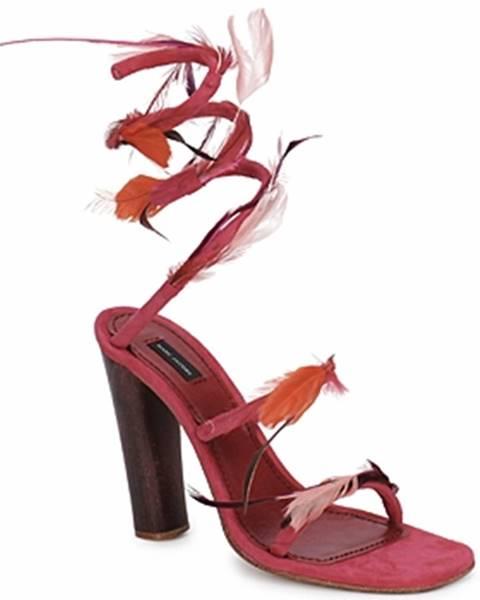 Ružové sandále Marc Jacobs