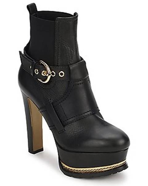 Čierne topánky Moschino