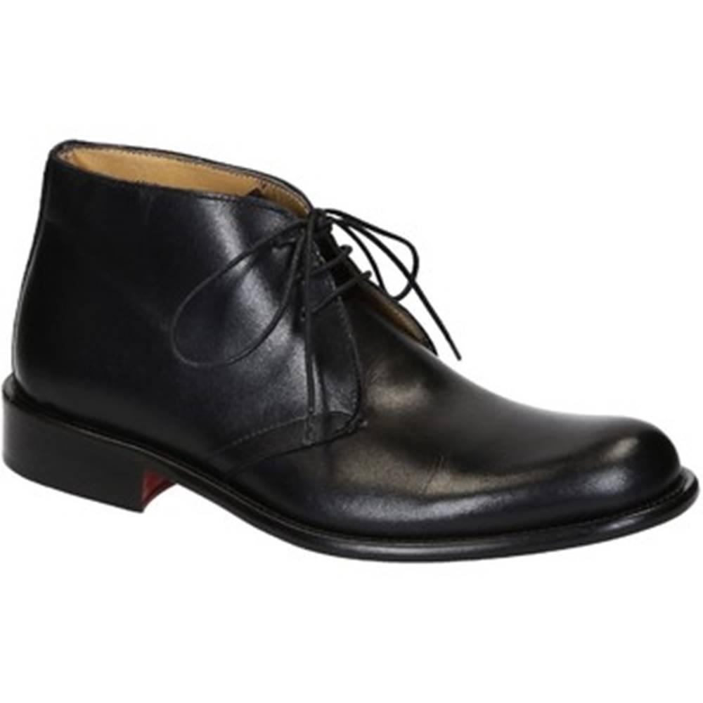 Leonardo Shoes Polokozačky Leonardo Shoes  T032 SIVIGLIA NERO
