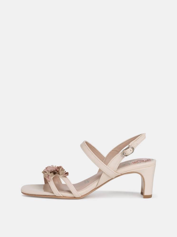 Tamaris Krémové sandálky Tamaris