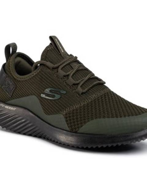 Khaki topánky Skechers