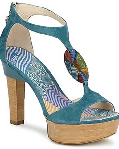 Modré sandále Fabi