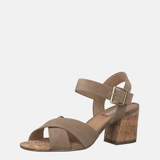 Béžové sandálky v semišovej úprave s.Oliver