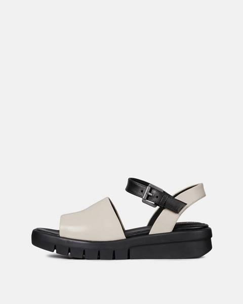Krémové sandále Geox