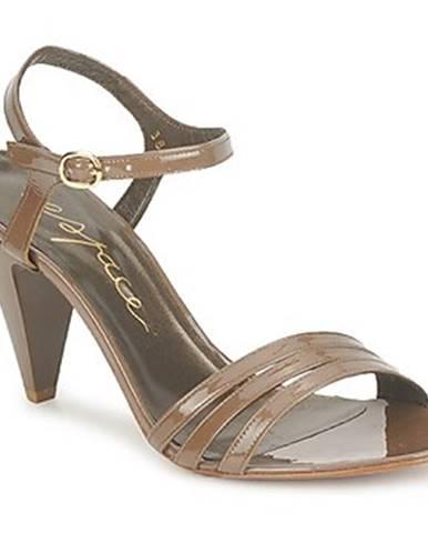 Hnedé sandále Espace