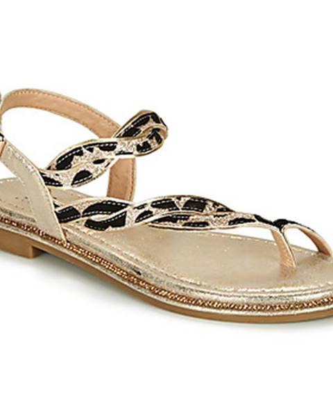 Zlaté sandále Elue par nous