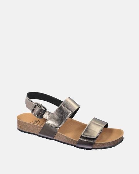 Strieborné sandále Scholl