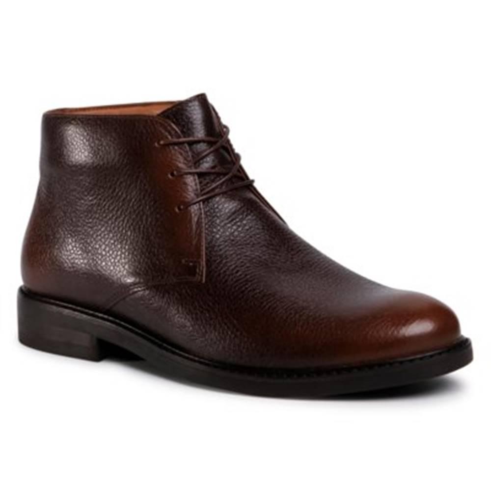 Gino Rossi Šnurovacia obuv Gino Rossi MI07-A962-A791-20 koža(useň) lícová